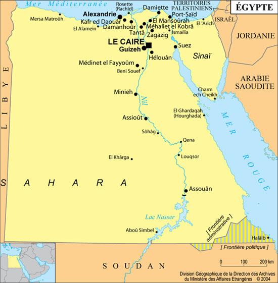 Map Of Egypt - Map of egypt karnak