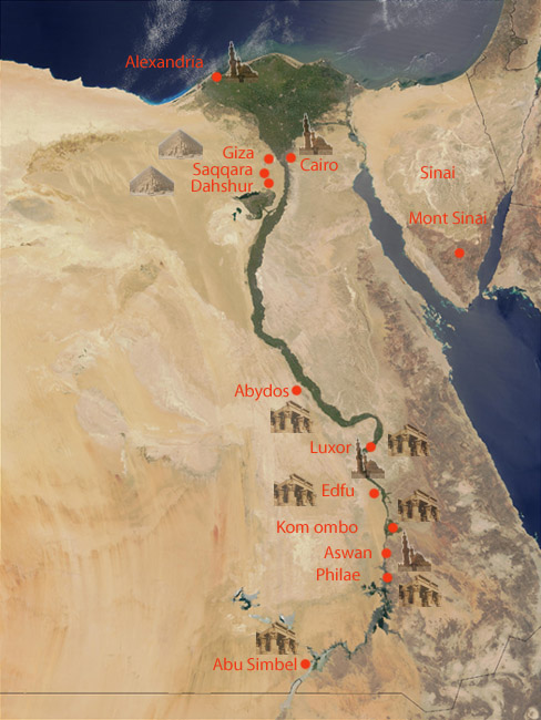 Egypt Nile Valley - Map of egypt showing valley of the kings
